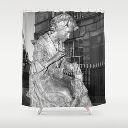 The Leics Seemstress Black And White Shower Curtain