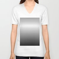 plain V-neck T-shirts featuring plain lines by My Big Fat Brand