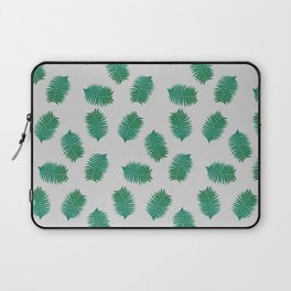 Turquoise leaves nature pattern Laptop Sleeve