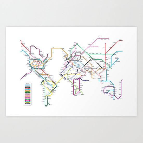 World metro subway map art print by artpause society6 gumiabroncs Images
