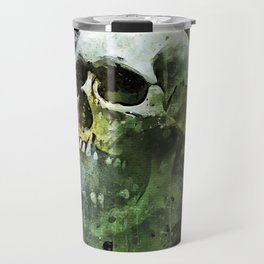 Splashed watercolor skull painting | let's get messy! Travel Mug