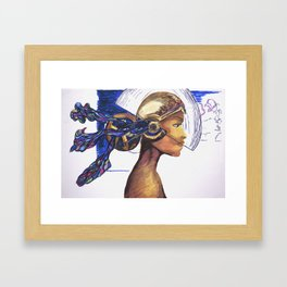 Future Girl Framed Art Print