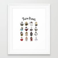 twin peaks Framed Art Prints featuring twin peaks by Bunny Miele