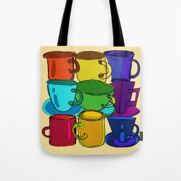 Tea Cups and Coffee Mugs Spectrum Tote Bag
