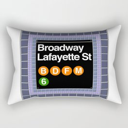 subway broadway sign Rectangular Pillow