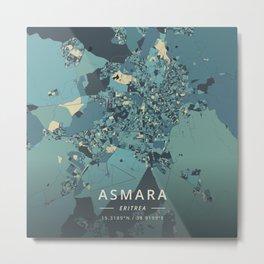 Asmara, Eritrea - Cream Blue Metal Print