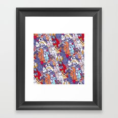 Smaller Space Toons in Color  Framed Art Print