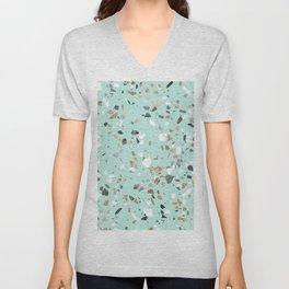 Glitter and Grit Marble Mint Green Unisex V-Neck
