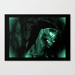 Inverted Yolanda zombie girl Canvas Print