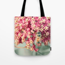 Bee on Milkweed Tote Bag