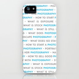 Blue Photography Keywords iPhone Case