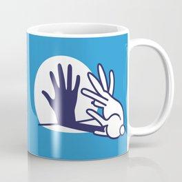 hand shadow rabbit Coffee Mug