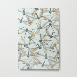 watercolor dragonflies Metal Print