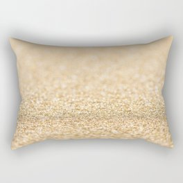 Beautiful champagne gold glitter sparkles Rectangular Pillow