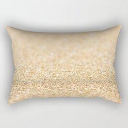 Beautiful champagne gold glitter sparkles Rectangular Pillow
