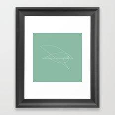 Contours: Hawk (Line) Framed Art Print