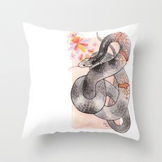 Glowing Corn Snake Throw Pillow