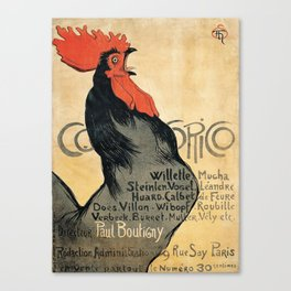 Cocorico by Theophile Steinlen, 1899 Canvas Print