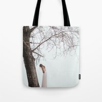 alone Tote Bags featuring Alone by Jovana Rikalo