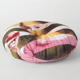 "Leonardo Da Vinci's ""Mona Lisa"" & M.M. Floor Pillow"