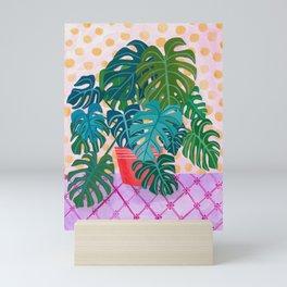 Split Leaf Philodendron Houseplant Painting Mini Art Print