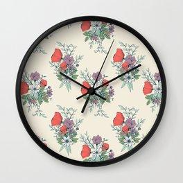 Botanical pattern 005 Wall Clock