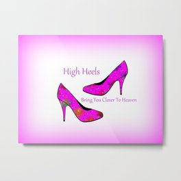High Heel Heaven Metal Print
