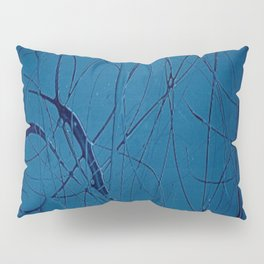 Pollock Inspired Blues Party Pillow Sham