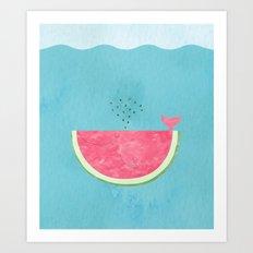 Sea Melon Art Print