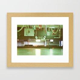 Roller Skating Rink Framed Art Print