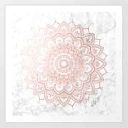 Pleasure Rose Gold Art Print