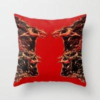bull Throw Pillows featuring bull by barmalisiRTB