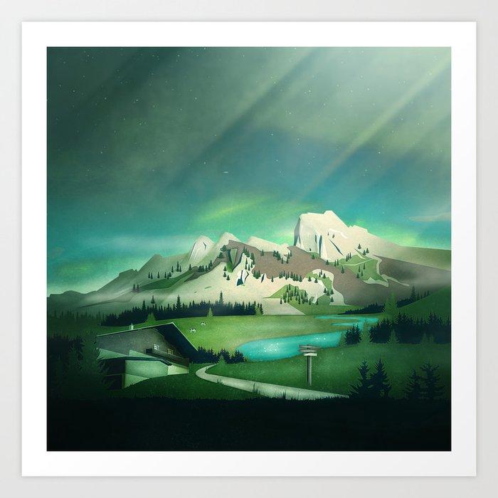 Alpine Enchantment Art Print