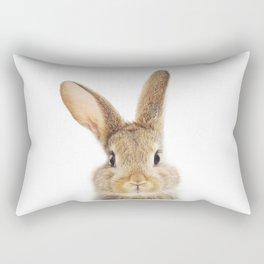 Bunny Art Print by Zouzounio Art Rectangular Pillow