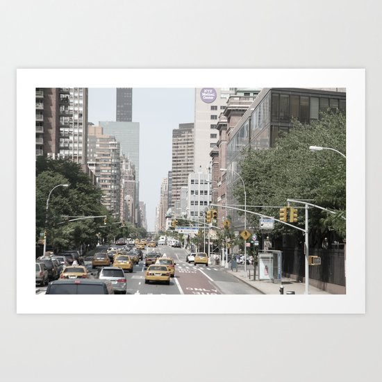 New York City Taxi Art Print