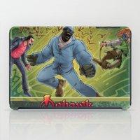 robin hood iPad Cases featuring DRACULA VS. ROBIN HOOD VS. JEKYLL & HYDE! by Eco Comics