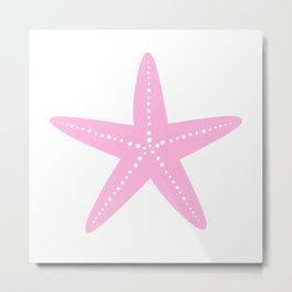 Starfish (Pink & White) Metal Print