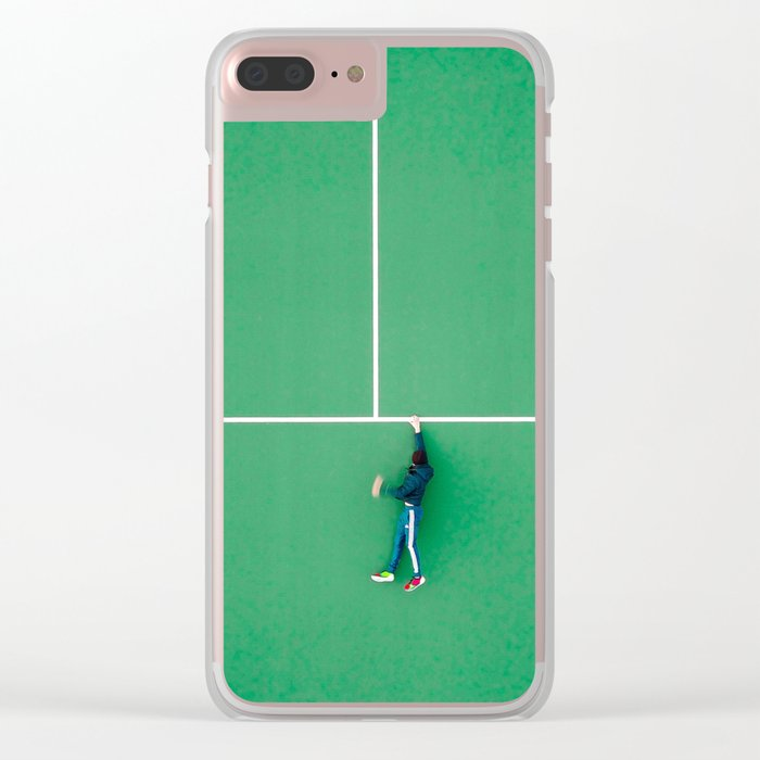 Tennis court green Clear iPhone Case