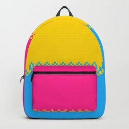 pixel pride- pansexual pride flag Backpack