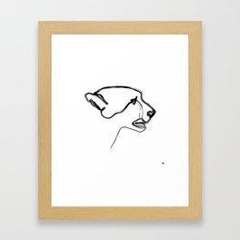 """ Animals Collection "" - Cheetah Framed Art Print"