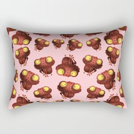 Cute Frog With Pink Background Rectangular Pillow