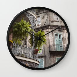 New Orleans Looking Down Royal Wall Clock