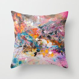 ILLUSIVE MOUNTAINS Throw Pillow