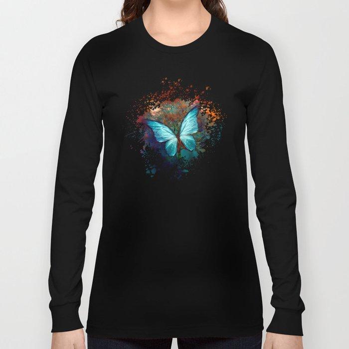 The Blue butterfly Langarmshirt
