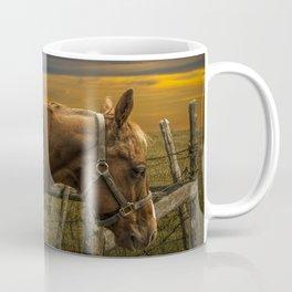 Saddle Horse on the Prairie Coffee Mug