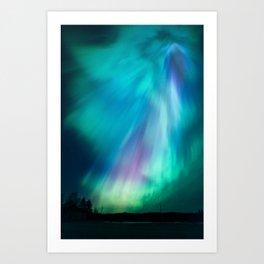 Big beautiful northern lights Art Print