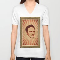 tarantino V-neck T-shirts featuring Tarantino by Durro