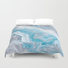 Ocean Foam Mermaid Marble Duvet Cover