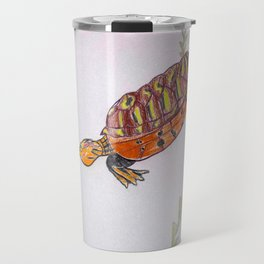Red Eared Slider Turtle Travel Mug