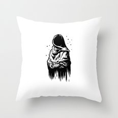 Time (Black and White) Throw Pillow